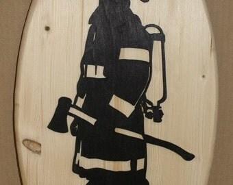 Firefighter silhouette, Fireman