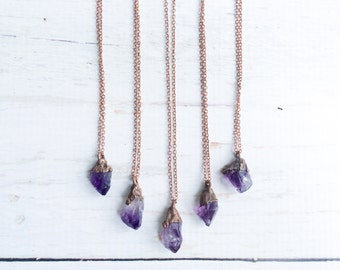 Amethyst crystal necklace | Raw amethyst crystal pendant |  Natural amethyst crystal pendant | Raw mineral jewelry | Raw mineral necklace