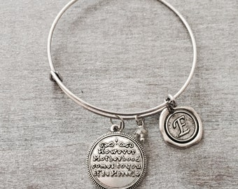 How ever motherhood comes to you its a miracle, IVF, Baby Adoption, Adoption, new mom adoption, Silver Bracelet, Charm Bracelet, GIfts,