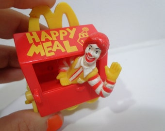 90s McDonalds Ronald McDonald Birthday Train Happy Meal Toy Novelty Cake Topper Collectible from 1994