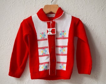 Best of the Bunch - Retro Knitted Acrylic Cardigan - Age 1 to 2