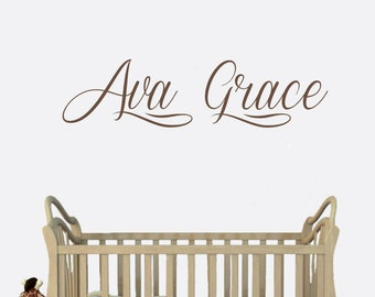Nursery Wall Name Decal - Kids Personalized Name Decal (Svergie Font) - Nursery Decal - Nursery Decor - Wall Words