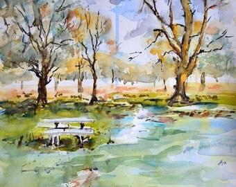 Irish Watercolor Landscape