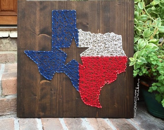 MADE TO ORDER String Art Texas Flag / State Sign