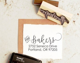 Address Stamp, Return Address Stamp, Wedding  Stamp, Custom Address Stamp, Rubber Stamp, Personalized Address, Calligraphy Stamp  10256