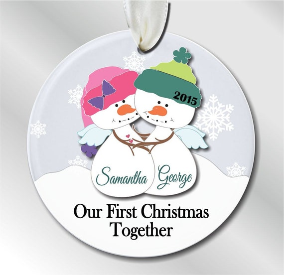 Our First Christmas Together Ornament Snowman by ...