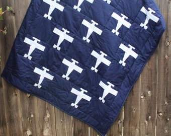 Custom Airplane Quilt