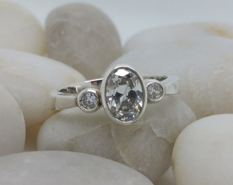 Cubic Zirconia Triple stone Ring