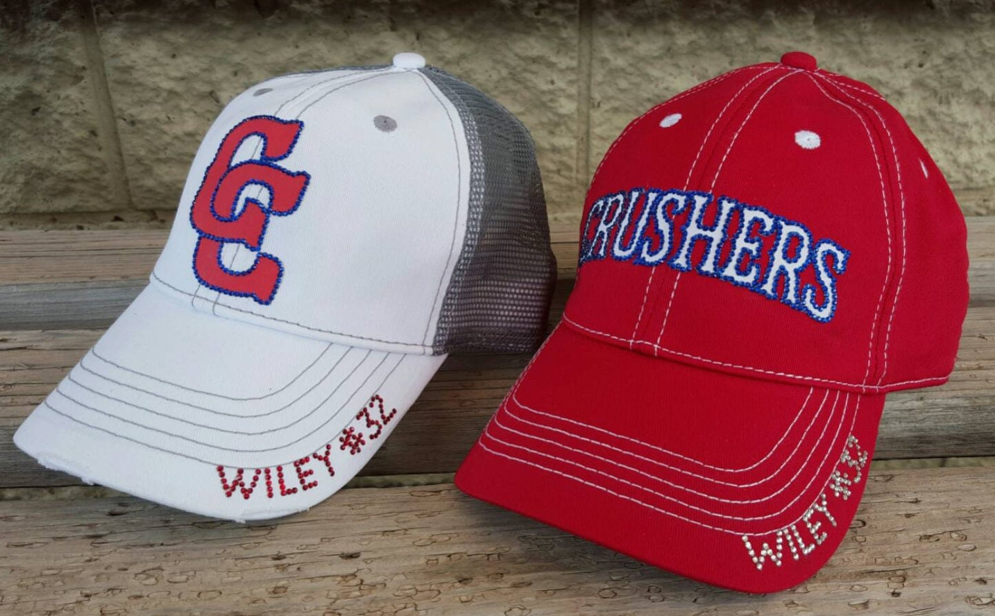 custom baseball hat crushers team hat either logo or name