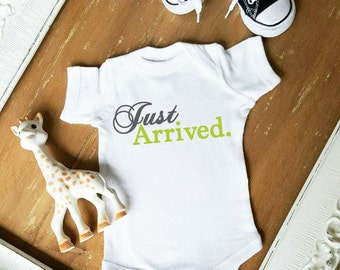 Just Arrived Custom Color Baby Bodysuit by Simply Chic Baby Boutique