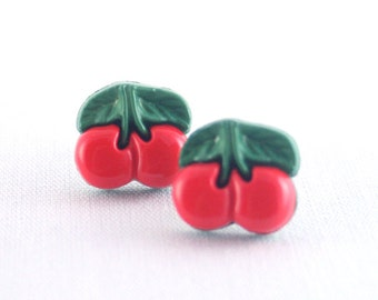 Red Cherry Pinup Studs