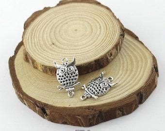 10pcs 14x26mm Antique Silver  lovely owl pendant