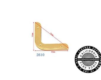 Gold Metal Bag Corner, 54 mm x 54 mm x 76 mm End Corners, Bag Corners, (2610)
