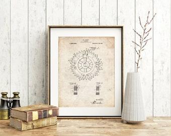 Cogwheel 1922 Patent Poster, Gears, Car Part Art, Mechanical Engineer, Mechanic Gift, PP0526