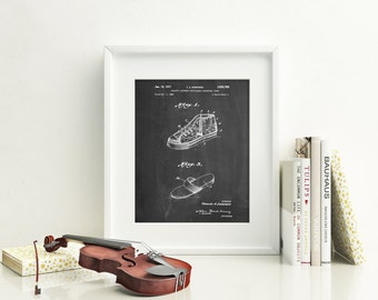 Basketball Shoes 1968 Patent Poster, Basketball Gifts, Vintage Basketball, Basketball Coach Gift, Boys Room Wall Decor, PP0718