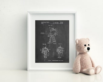 Megatron Patent Poster, Game Room Wall Art, Retro Toys, PP0184