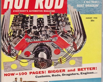 August 1958 Hot Rod Magazine