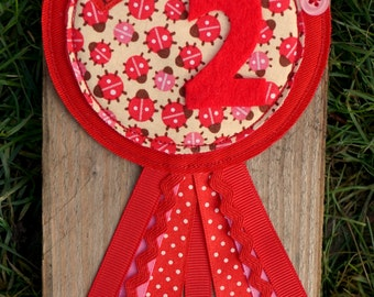 Ladybird Personalised Birthday badge
