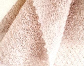 Scarf mohair, mohair shawl, scarf, rosewood, Italian mohair yarn, handmade