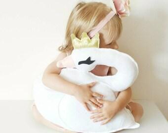 Princess Swan cushion, girls room decor, gift for girls, kids room decor, nursery decor