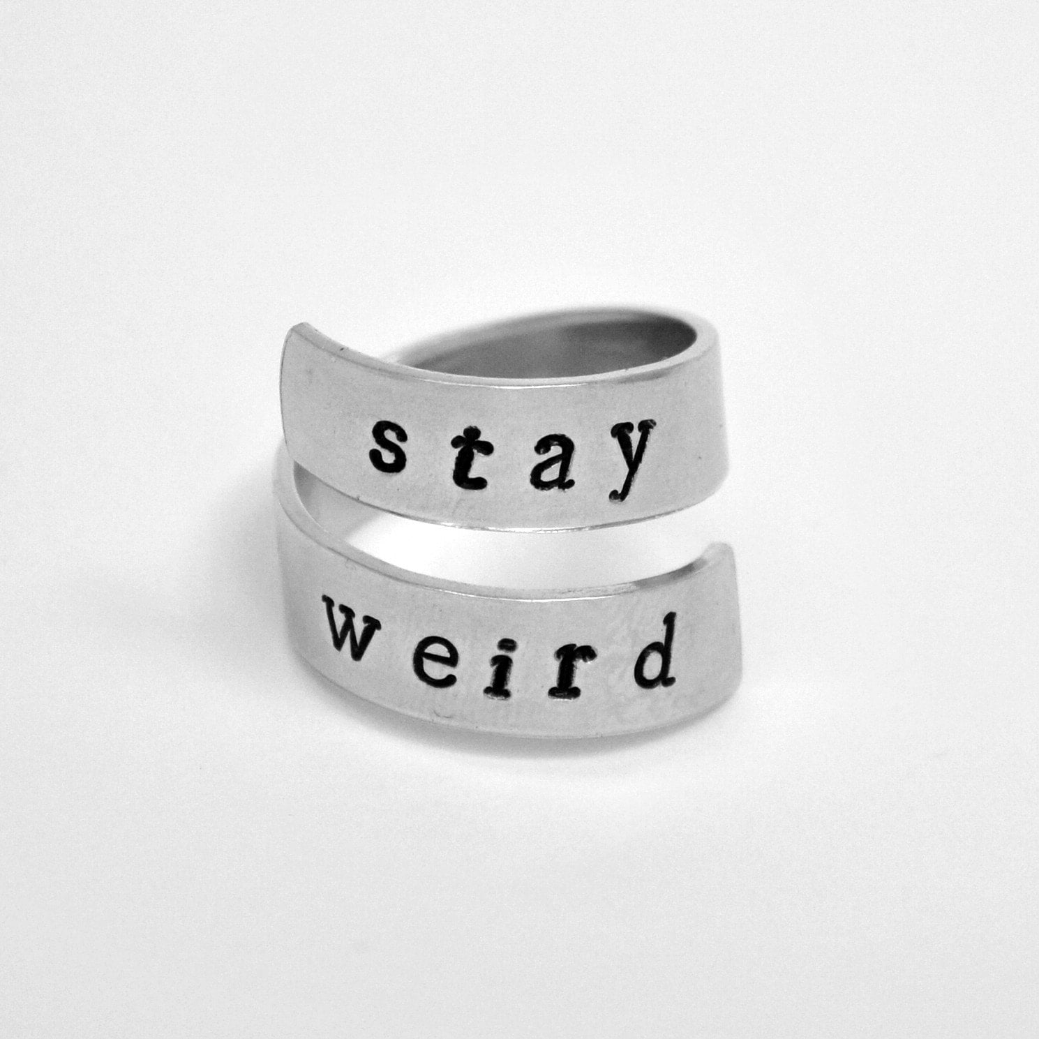 Stay Weird Ring Wrap Around Ring Friendship ring