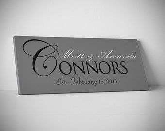 Last name family sign, Personalized family name sign, Custom name sign, Established sign, hanging family sign, family sign, Canvas SALE