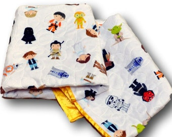 Star Wars Baby Quilt * Star Wars Nursery * Star Wars Baby Blanket * Star Wars Quilt * Star Wars Crib Bedding * Star Wars Baby