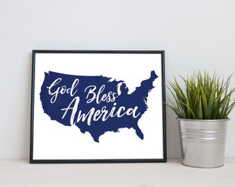 god bless america 4th of july decor patriotic decor memorial day decorations - 4th Of July Decorations