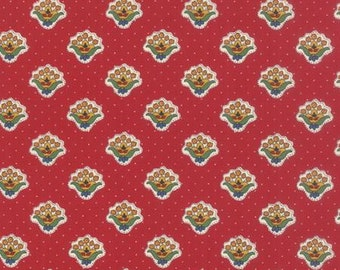 Petite Bouquet Lorraine Fabric - American Jane - Moda Fabric 21684 12 Red - 1/2 yard