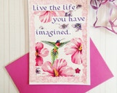 Confidence - Handcrafted Card with Inspiring Text