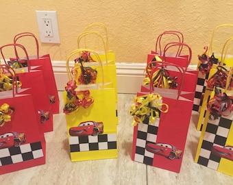 12- Lightning McQueen Favor Bags