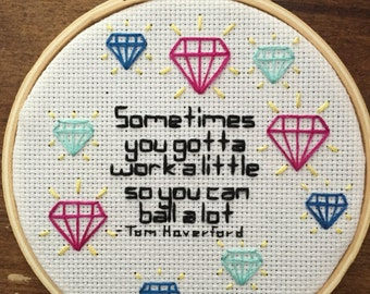 Parks and Recreation Tom Haverford Quote Embroidery