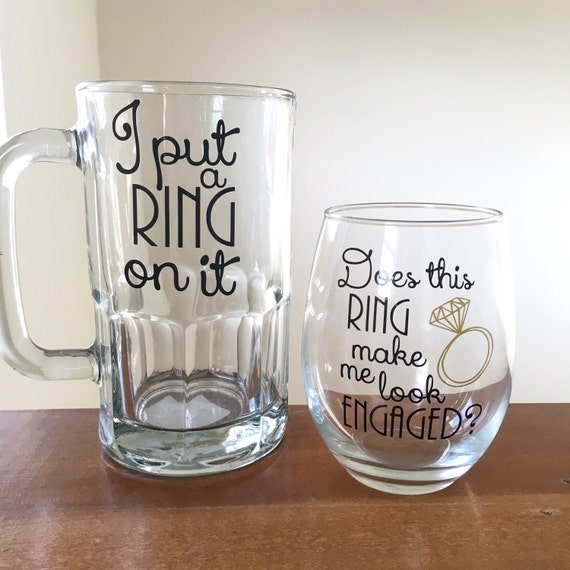 Engagement Gifts: Couples Engagement Gift I Put A Ring On It Beer By