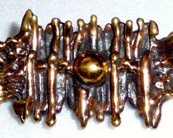 Brooch. Pentti Sarpaneva (Finland). Bronze. Vintage.