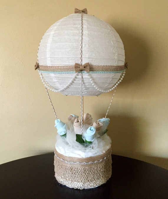 hot air balloon baby shower table centerpiece nursery d cor. Black Bedroom Furniture Sets. Home Design Ideas