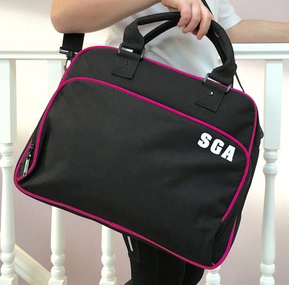 Gym Bag Stylish: Retro Style Dance Gym Bag Girls Black Bag Swimming Bag