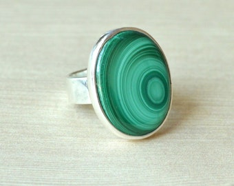 Orb Malachite Ring