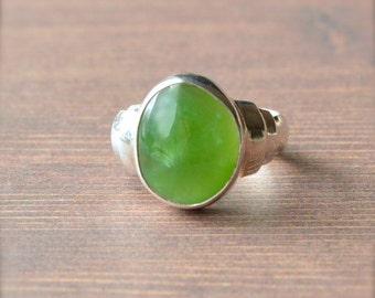Oval Siberian Jade Ring