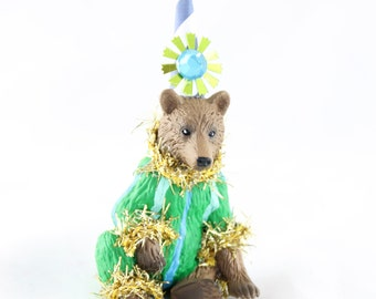 Grizzly Bear Cupcake Topper
