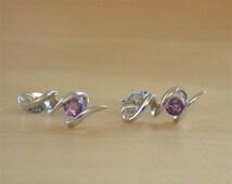 925 Amethyst Earrings/Sterling Silver Amethyst Earrings/Purple Gemstone Earrings/Amethyst Jewellery/Amethyst Jewelry/February Birthstone