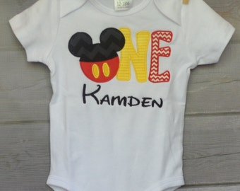 Personalized I'm One First Birthday Applique Shirt or Onesie Girl or Boy