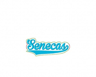 Senecas - Team -  Headband Slip On  - DIGITAL Embroidery DESIGN