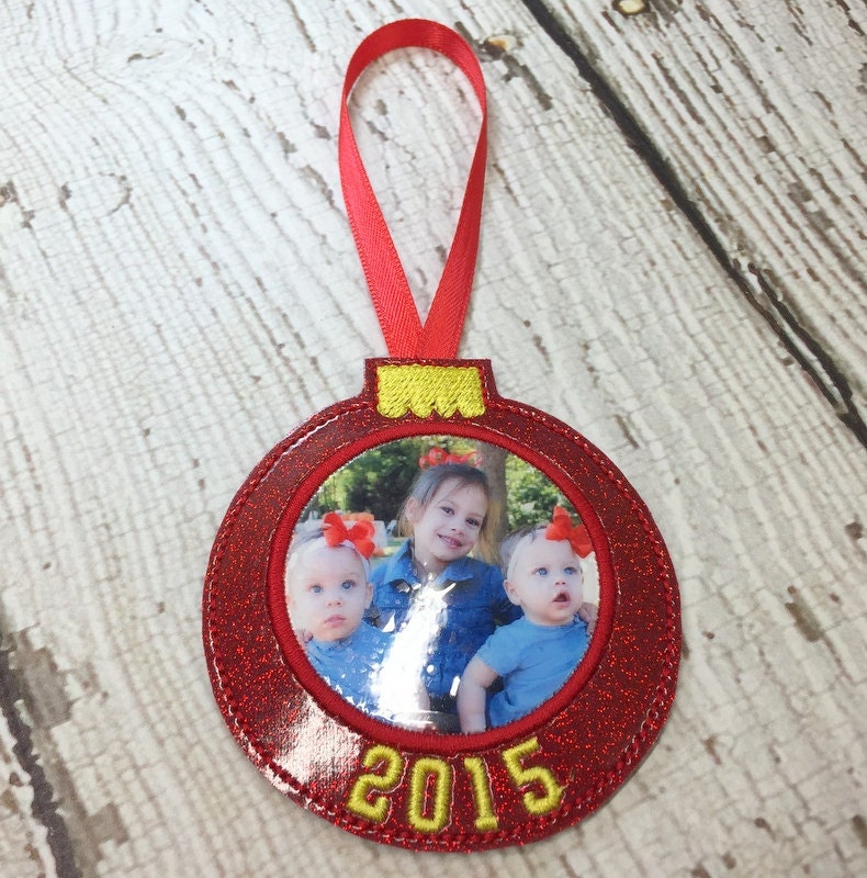 Photo Ornament Christmas In The Hoop DIGITAL Embroidery