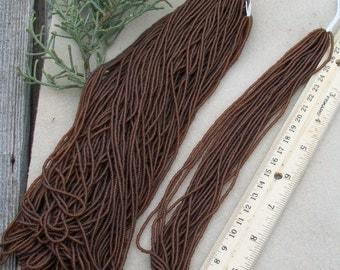 Dark topaz Matte size 11/0 seed beads , Czech seed beads , glass seed beads