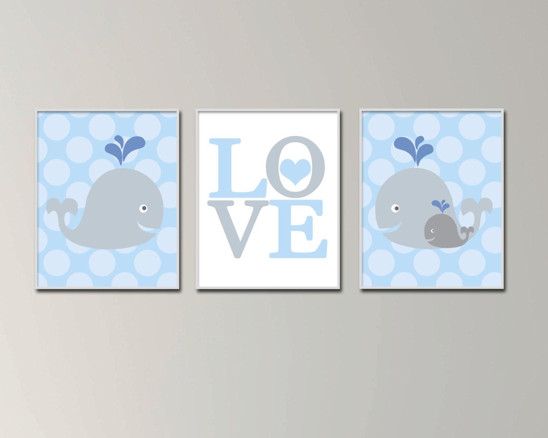 whale nursery wall art print baby boy whale wall art baby. Black Bedroom Furniture Sets. Home Design Ideas