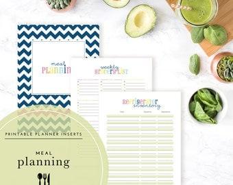 Meal Planning Planner Inserts / Binder Kit PDF - A Printable PDF