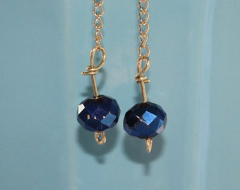 Beautiful Navy and Gold Earrings