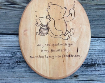 Winnie the Pooh and Piglet Plaque