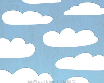 Clouds Photo Shoot Prop, Sky Background, Baby Photography Backdrop, Summer, Sky, Party Digital Printable File, 5 feet, 152 cm