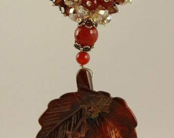 One Of A Kind Carnelian Necklace by MJG Designs